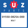 01550-0825A-000 Suzuki Bolt 015500825A000, New Genuine OEM Part
