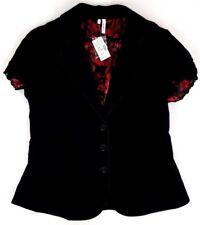 New Maurice's Studio Y Women's L Black 3-Btn Short Sleeve Blazer/Coat/Jacket NWT