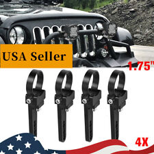 """4X 1.75"""" 44mm Bull Bar Roll Cage Mount Bracket Tube Clamp Fit 4WD Offroad Bumper"""
