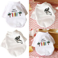 Small Pet Dog Cat Clothes T Shirt Cute Puppy Cotton Vest Summer Costume Sweater