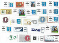 UK pre-paid stamps/ clippings from envelopes - postcards x 23 (Batch 2)