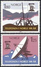Norway 1980 Telephone Service 100th/Radio Dish/Communications 2v set (n43416)