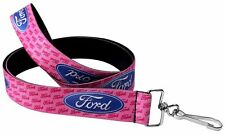 "Lanyard 1"" Key Chain Ring Neck Ford Focus Fusion Mustang F-150 Logo PINK"