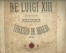 Gavotta del Re Luigi XIII  per Pianoforte di Vincenzo De Meglio Spartito 1878