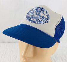 77e457e695b Vtg Oak Hill Kansas Hat Snapback Trucker Cap 1987 Centennial Blue Gray Mesh