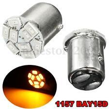 2x Amber 12V Car 1157 BAY15D 9 5730 LED SMD Reverse Turn Signal Light Bulb Lamp