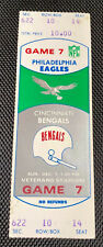Philadelphia Eagles vs.Bengals Ticket Stub December 7 1975 at Veterans Stadium