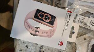 "New Gold/Pink Huawei Band 6 Smart Health Watch! 1.47"" AMOLED!"