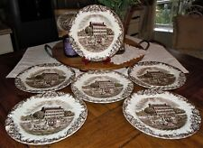 Johnson Brothers HERITAGE HALL 6pc England Dinner Plates Georgian Town House