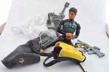 90´s Action Man Lot figure + acessories Parachute gun glasses cloth