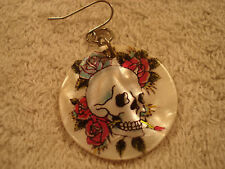 Earing Mother of Pearl, Skull & Roses