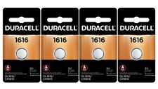4 x 1616 Duracell Coin Cell Batteries - Lithium 3V - (Cr1616, Dl1616,Ecr1616,Ya)