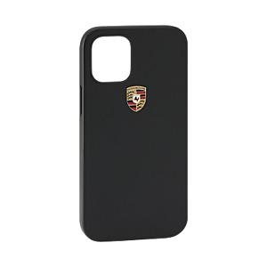 Original Porsche Snap On Case, iPhone 12 / iPhone 12 Pro, Leder, schwarz, 6.1″