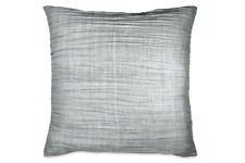 427  DKNY Pewter Gray Pleated EURO Pillow Sham Case Cover 26 X 26