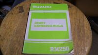 NOS OEM Suzuki Owners Maintenance Manual 1989 RM250 99011-28C51-03A