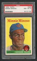 1958 Topps Minnie Minoso #295 PSA 8 Near Mint