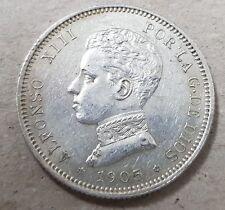 2 pesetas Plata Alfonso XIII año 1905*1905. Peso 9,97 gr. BONITA en EBC.