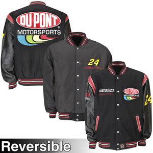 NASCAR DUPONT JEFF GORDON WOOL BODY & LEATHER SLEEVES Jacket