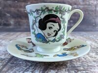 Walt Disney Gallery Snow White and the Seven Dwarfs Cup and Saucer Japan Vintage