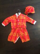 70's Vtg  Lord & Taylor Betti Terrell Baby Toddler 3 Piece Outfit Plaid Sz M