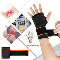 Wrist Hand Brace Support Sleeves Wrap Strap For Carpal Tunnel/Gym/Weight Lifting