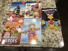 5 Level One Reader Books Paperback Disney Cars Toy Story Angry Birds Morris VGUC
