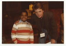 Michael J. Fox & Gary Coleman - Original Photo by Peter Warrack - Unpublished