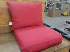 Sunbrella Jockey Red Cushion Set for Indoor / Outdoor Deep Seat Furniture Chair