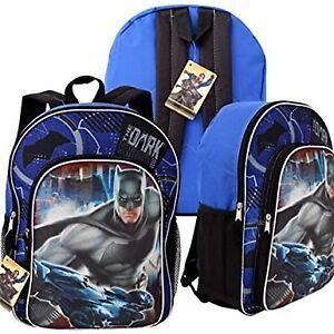 """DC Comics Batman vs Superman 15"""" Backpack with Front Pocket"""