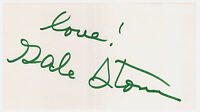 Gale Storm Signed 6x4 Card- Autograph of Actress & Singer- 3 Walk of Fame Stars!