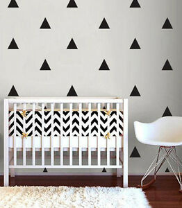 Triangle Shape Wall Stickers Decals- Big Pack & 12 Colours Available Kids Design