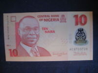 NIGERIA 2009 POLYMER ISSUE-10 NAIRA P39c DATED 2011- 7 NUMBER SERIAL UNC