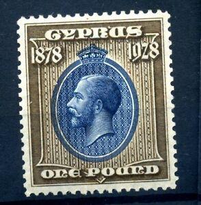 Cyprus 1928 £1 fine MH SG 132