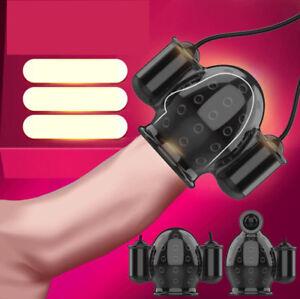 Male Mens Masturbator Penis Sheath Vibrator Multi Speed HOT Sex Toy
