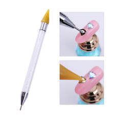 Double tête Nail Art strass Picker Crayon Crayon en cristal Dotting Pen