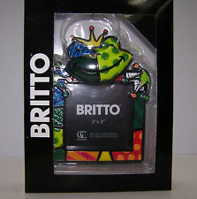 "Romero Britto Decorative Collectible Art 3""x3"" Frame Frog Image"