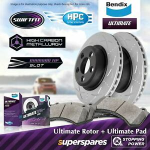 Bendix Ultimate Front Disc Rotors + Brake Pads for Ford Territory SX SY SZ 322mm