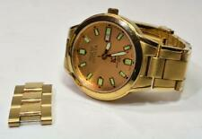 Invicta 3234 10 Collection Cyrus Men's Date 23K gold plt Stainless Watch w/box