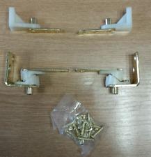 2 x paires de swing Louvre charni/ères de porte en laiton Electro