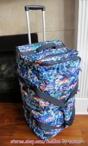 New w Tag NWT Kipling Teagan L Wheeled Duffel Bag w Furry Monkey