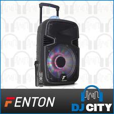 Fenton FT12JB 12-inch Party DJ Powered Speaker 700w W/ Battery & LED Light Show