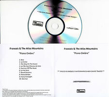 FRANCOIS & THE ATLAS MOUNTAINS Piano Ombre UK 10-trk watermarked promo test CD