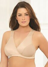 GLAMORISE Bra 38F 38G 38 F-G SPORT Active Comfort Wrap YOGA LOW-IMPACT Cafe NEW