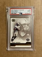 2001 DREW BREES PACIFIC DYNAGON TOP OF THE CLASS #3 PSA 9 MINT ROOKIE RC
