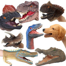 Kids Dinosaur Hand Puppet Rubber Soft Super Realistic Halloween Role Play toys