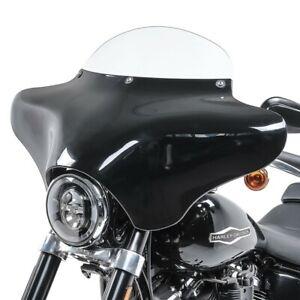 Pare-Brise Batwing pour Harley Dyna Street Bob fum/é Noir