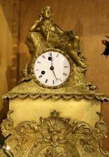 Antico orologio da tavolo in bronzo dorato francese Parigina