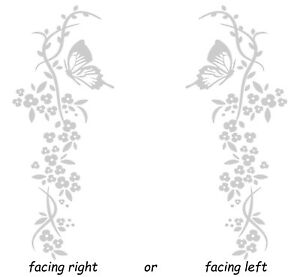 Cherry Flower Blossom Butterfly Stained Glass or Etched Effect Window Sticker
