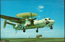 E2B Hawkeye 013 landing on aircraft carrier Uss Midway Cv-41 postcard Us Navy
