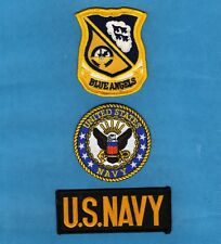 BLUE ANGELS US NAVY USA FLAG EAGLE Embroidered Sew On Iron On NOVELTY PATCH New